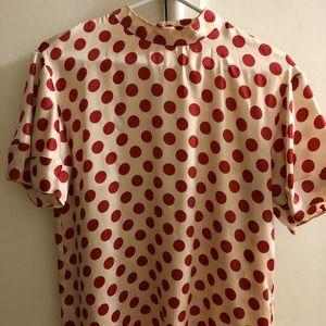 Cute polka dot Zara blouse! Worn once! Medium